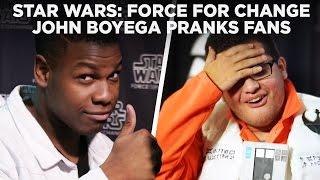 John Boyega Pranks Star Wars Fans with Surprise Photobomb at Celebration | Force For Change
