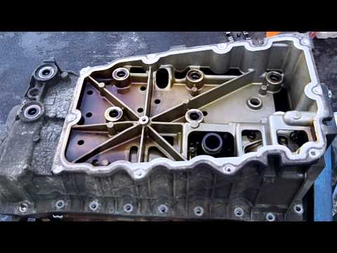 2002 Ford Explorer Timing Chain update 01 08 2013 upper oil pan removal 2