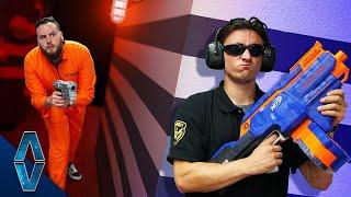 NERF Cops VS Robbers Escape Challenge!