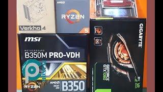 AMD RYZEN 5 1600X - B350M PRO VDH - GTX1060 SİSTEM TOPLAMA