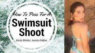 HOW TO POSE FOR A SWIMSUIT SHOOT | Behind The Scenes: Ke'ala Bikinis | @katierose.franko
