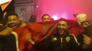 Mondial 2018: des supporters du Maroc étaient en liesse samedi soir sur les Champs-Élysées