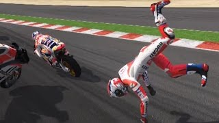 Valentino Rossi The Game - MotoGP 16 - Crash Compilation (PS4 HD) [1080p60FPS]