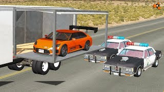 Beamng drive - Car Transporter Crashes, Fails, Сhases (Transportation of cars crashes)