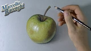Download How to draw a 3D yellow apple 3Gp Mp4