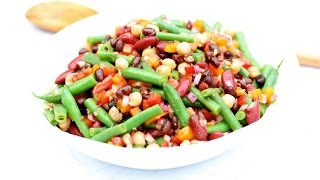 Healthy Four Bean Salad | Clean & Delicious