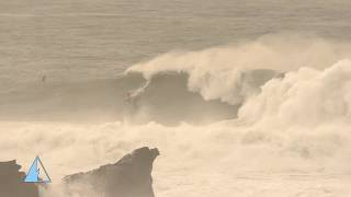 MAVERICKS GLORIES AND WIPEOUTS: HUGE SWELL ON 12-17-18 IN 4K
