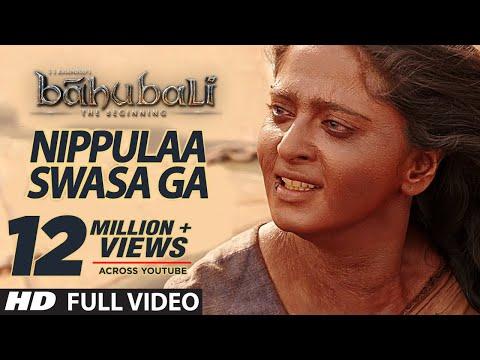 Nippule Swasaga Full Video Song || Baahubali (Telugu) || Prabhas, Rana, Anushka, Tamannaah