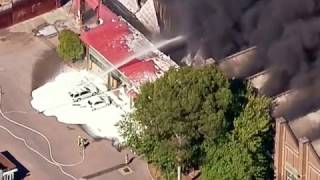 Fire rages at recycling factory in Australia
