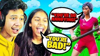 12 Year Old Girl ANNOYS Teammates while I actually play in Fortnite!