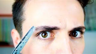 Eyebrow Trimming Tutorial | Mens Grooming | Natural Eyebrow Shape