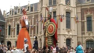 Rigodon de la famille Gayant à Douai - fêtes de Gayant 2012