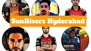 IPL -sunrisers hyderabad squad 2017 new team (SRH)