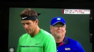 Novak Djokovic vs Juan Martin del Potro & linesman