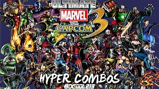 ULTIMATE MARVEL VS. CAPCOM 3 FOR PLAYSTATION 4 - ALL HYPER COMBOS - PS4 GAMEPLAY - 1080P 60FPS