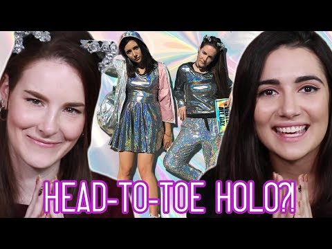We Got A Head To Toe Holographic Makeover feat. Simply Nailogical