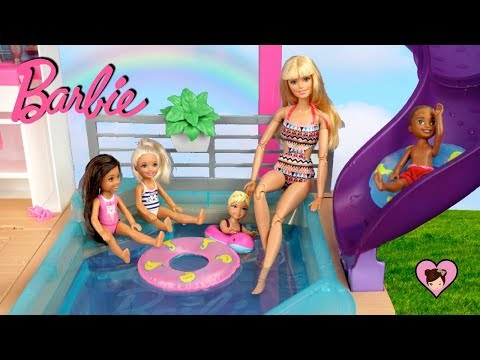 Xxx Mp4 NEW Barbie Dreamhouse Adventures Morning Routine With Pool Party 3gp Sex