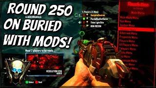 Black Ops 2 Zombies BURIED ROUND 250 MOD MENU TROLLING! (ROUND SKIP GLITCH TROLL!) BO2 MODS!