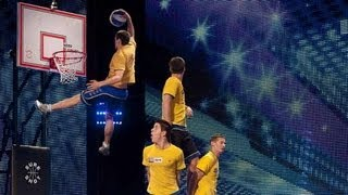 Face Team basketball acrobatics - Britain's Got Talent 2012 audition - International version