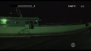 Aksi Kejar-kejaran  Kapal Patroli dengan Kapal Malaysia Ilegal - Customs Protection