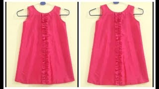 Baby Frock With Ruffle | Cutting And Stitching | Easy DIY