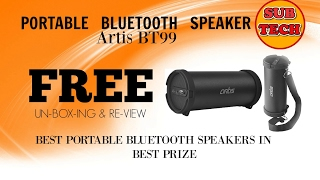 FREE. Unboxing & Review!! Artis BT99 Portable Bluetooth Speaker/Best Speaker in Best Prize