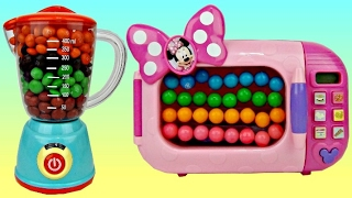 Minnie Mouse Magical Blender & Microwave Filled with Gumballs & M&M