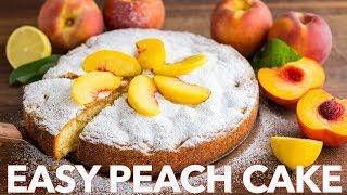 Dessert: How To Make Peach Cake with Fresh Fruit - Natasha