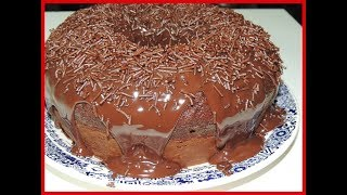 Receita de  Bolo de Chocolate com  massa pronta