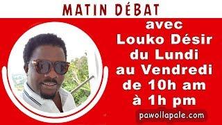 Lundi 12 mars 2018 - Dossier Guy Philippe : Louco fait le point /MATIN DÉBAT