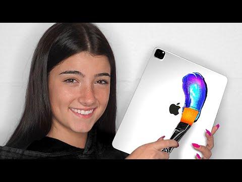 Surprising Charli D Amelio With 10 Custom iPad Pros & Macbooks 📱💻 ft. TikTok & LilHuddy Giveaway