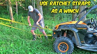 How to Use Ratchet Straps as a Winch?