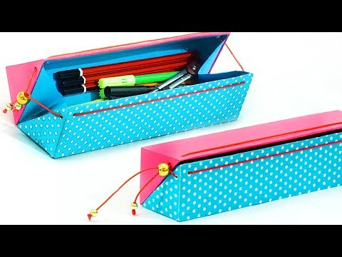 Xxx Mp4 DIY Pencil Case How To Make Pencil Case From Waste Cardboard Back To School Best Out Of Waste 3gp Sex