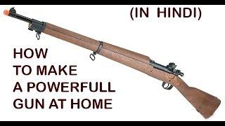 How to Make Powerful Gun at Home - Don't Shoot  Animals (hindi)