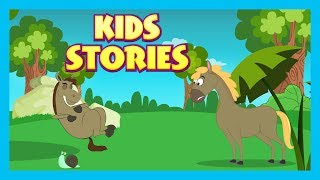 Kids Stories - The Horse & the Snail And The Lazy Horse - Kids Hut Storytelling