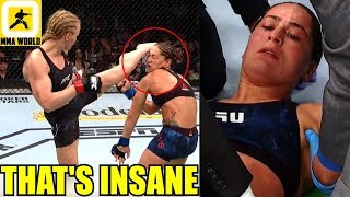 MMA Community Reacts to one of the most brutal KO in Woman's MMA Valentina Shevchenko vs Eye,Dana