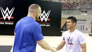 Mojo Rawley meets WWE tryout attendees in Saudi Arabia
