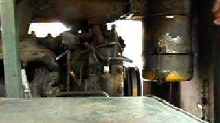 How to start a D318 caterpillar diesel engine with a cat gas pony motor - starting engine