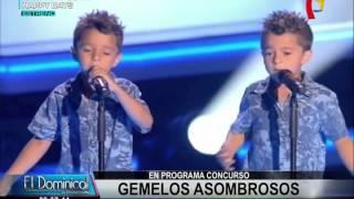 Estos adorables gemelos sorprendieron con su talento en show de España