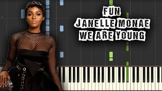 Fun. ft. Janelle Monáe - We Are Young - [Piano Tutorial] (Synthesia) (Download MIDI + PDF Sheets)
