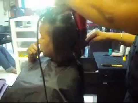 HOW TO DO A DOMINICAN BLOWOUT NATURAL HAIR TUTORIAL DOMINICAN HAIR SALON