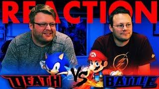 Mario VS Sonic DeathBattle REACTION!!