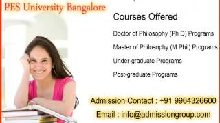 9964326600 management quota pes university Bangalore admission