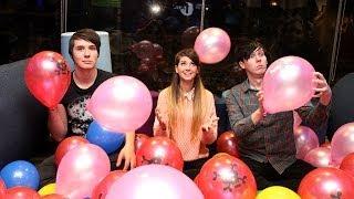 Dan vs. Phil vs. Zoella - Oven Glove Balloon Pop-Off!