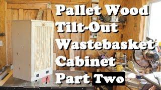 Pallet Wood Wastebasket Cabinet 2 *Free plans*