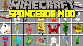 Minecraft SPONGEBOB SQUAREPANTS MOD! | SPONGEBOB, PATRICK, SQUIDWARD, & MORE! | Modded Mini-Game