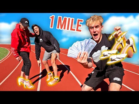 FIRST To Run 1 Mile IN HIGH HEELS Wins 25 000