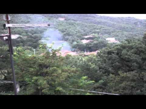 Fuma Vulcano Cantalice terremoto ad ALFEDENA L' AQUILA. 13 8 2013 CSF Rieti