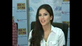 SUNNY LEONE speaks in Hindi at Sa Re Ga Ma Event - Part 1