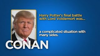 Celebrity Surveys: President Trump, Steve Bannon Edition  - CONAN on TBS